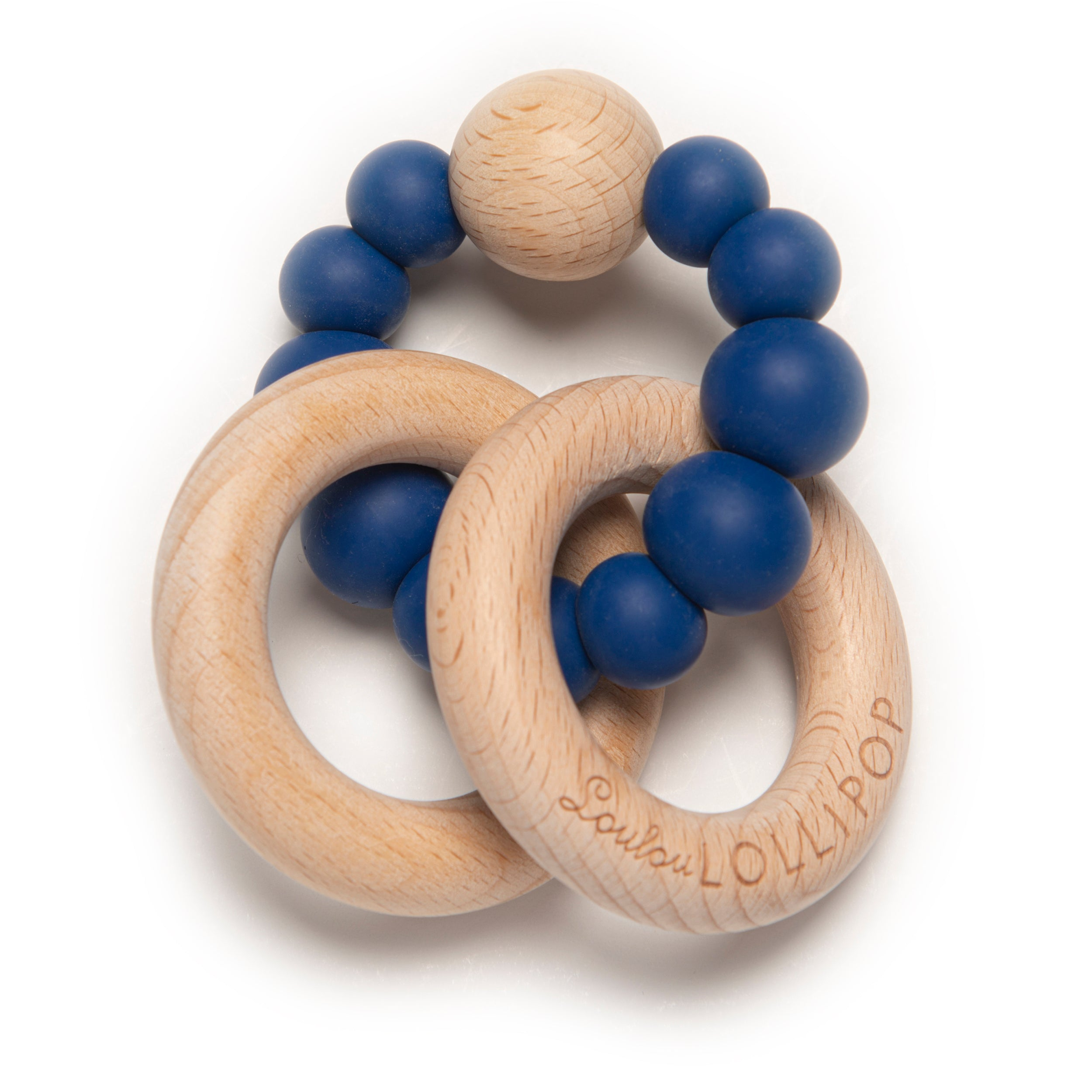 Natural Silicone and Wood Baby Teether