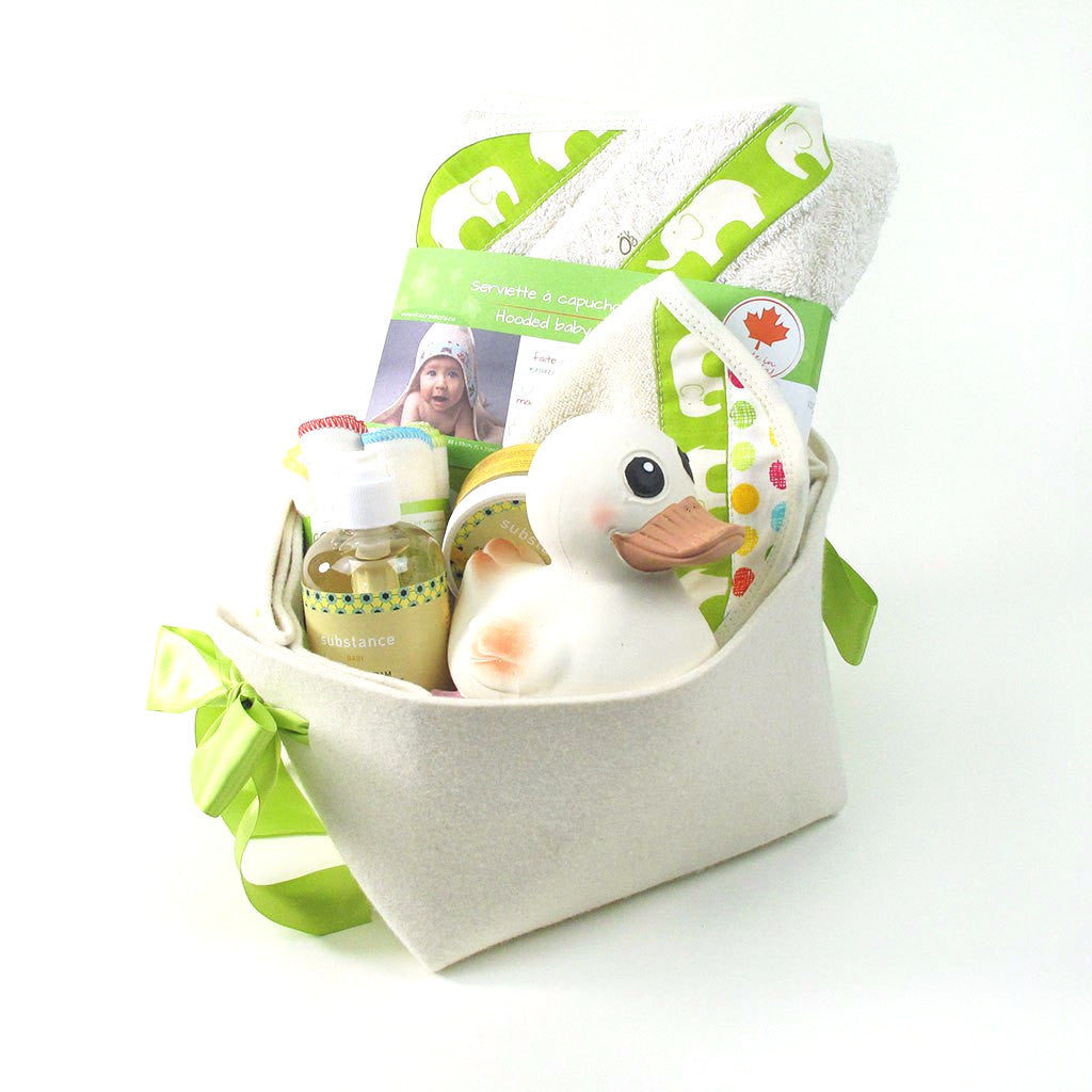 Natural and organic Baby Gift Basket perfect for Bath Time