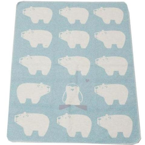 David Fussenegger Baby Blanket with Bears