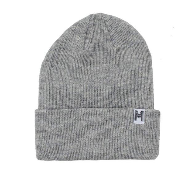 Trendy knitted baby beanie in Grey
