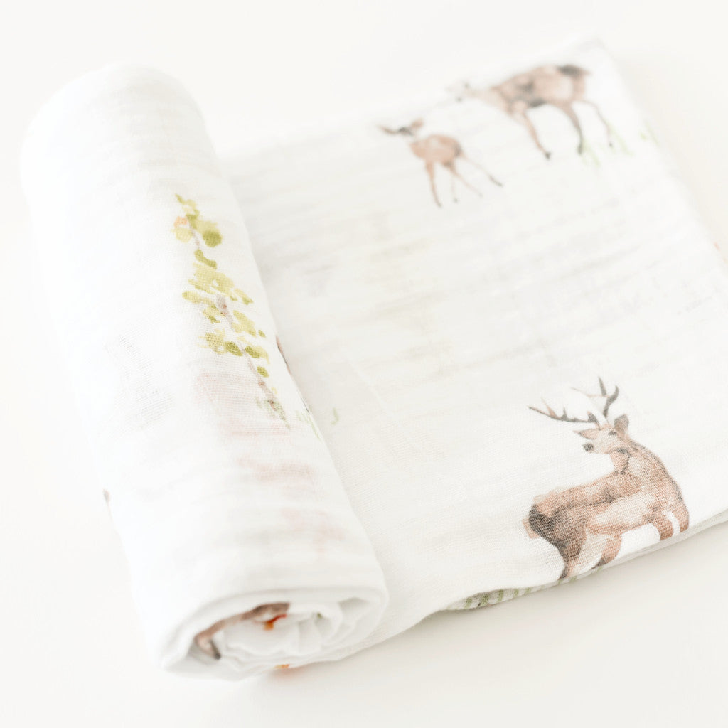 Little Unicorn Blanket Oh Deer at Bonjour Baby Baskets