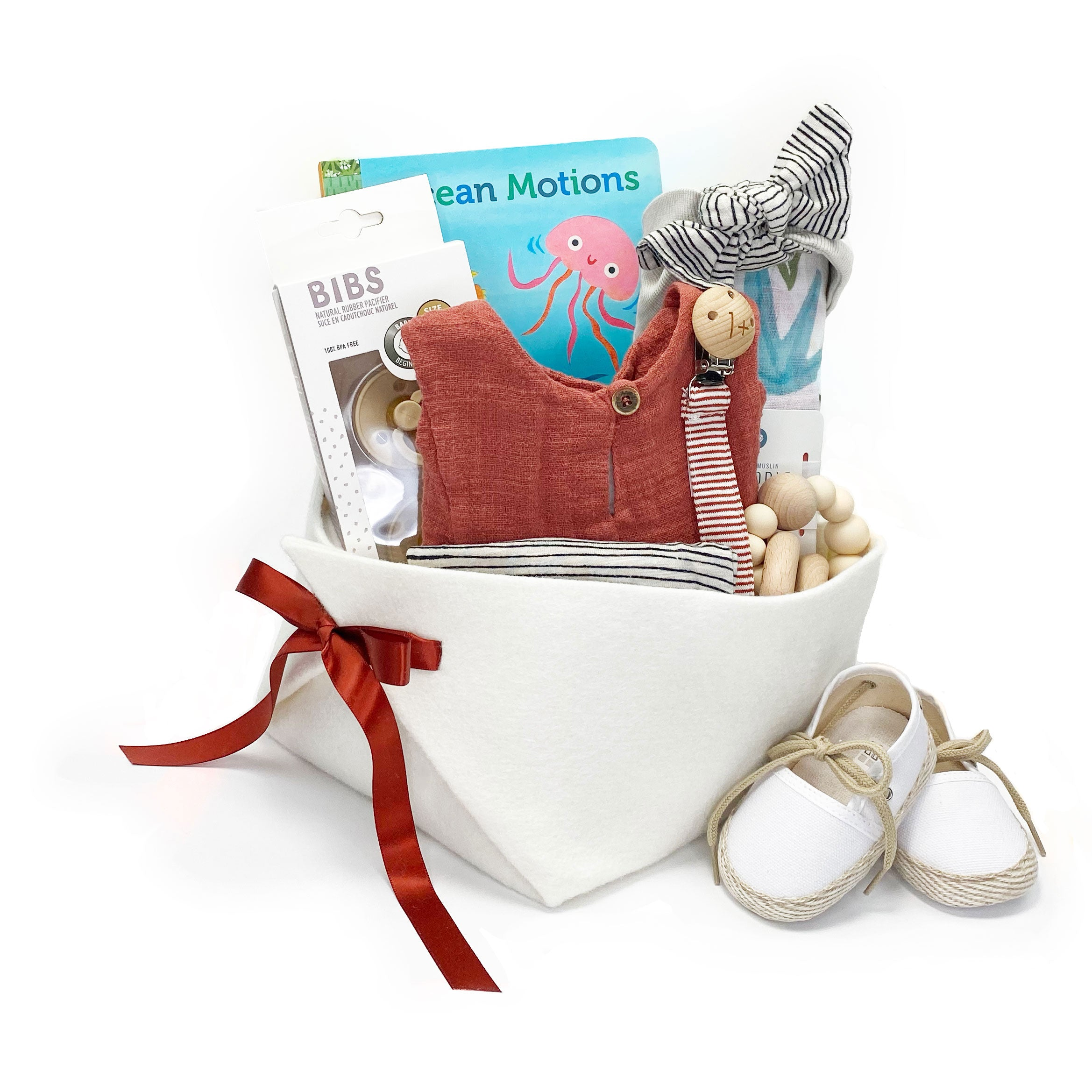 Luxury Baby Gift Basket featuring 1+ in the Family, great Baby Shower Gift Idea
