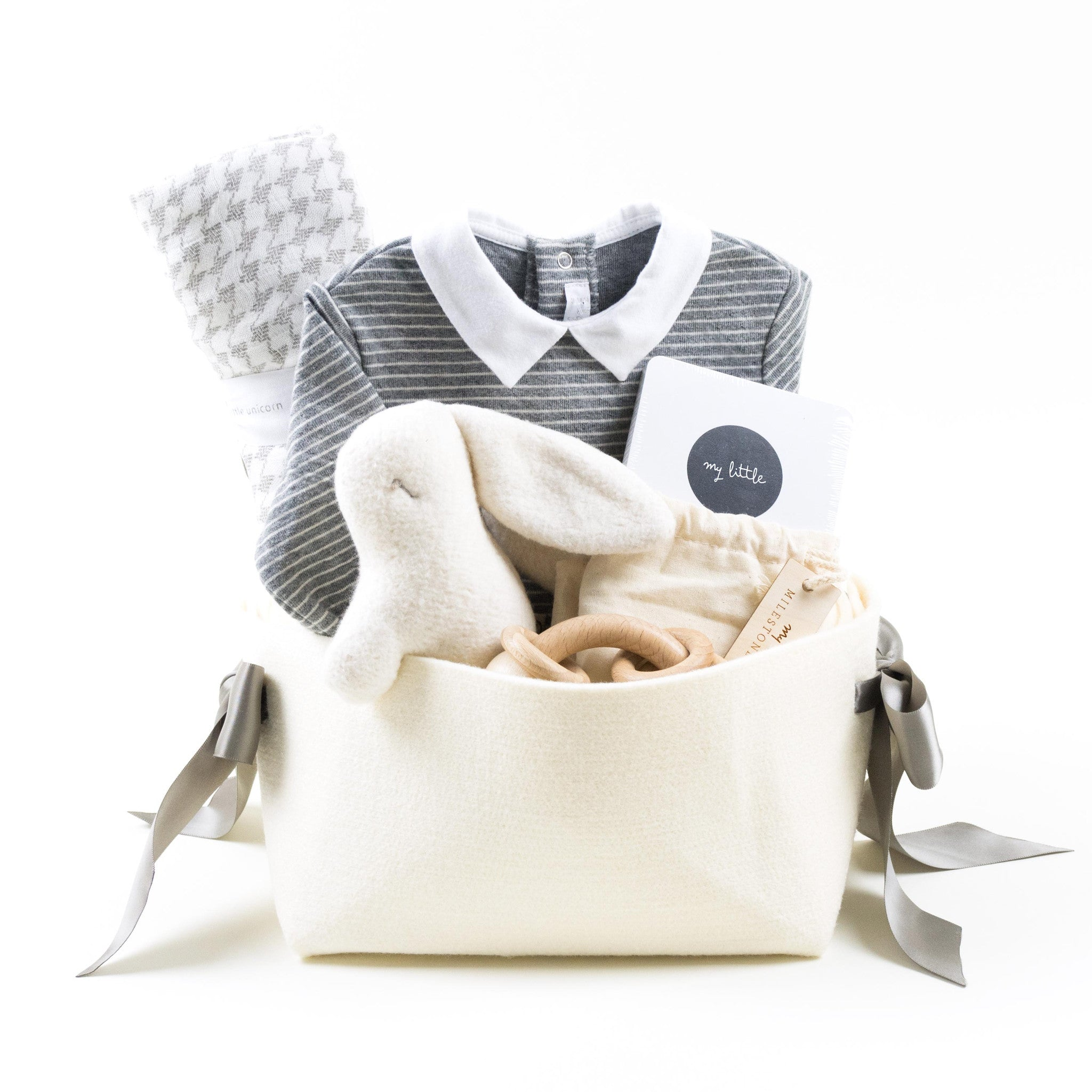 Luxury Welcome Home Baby Gift Basket by Bonjour Baby Baskets