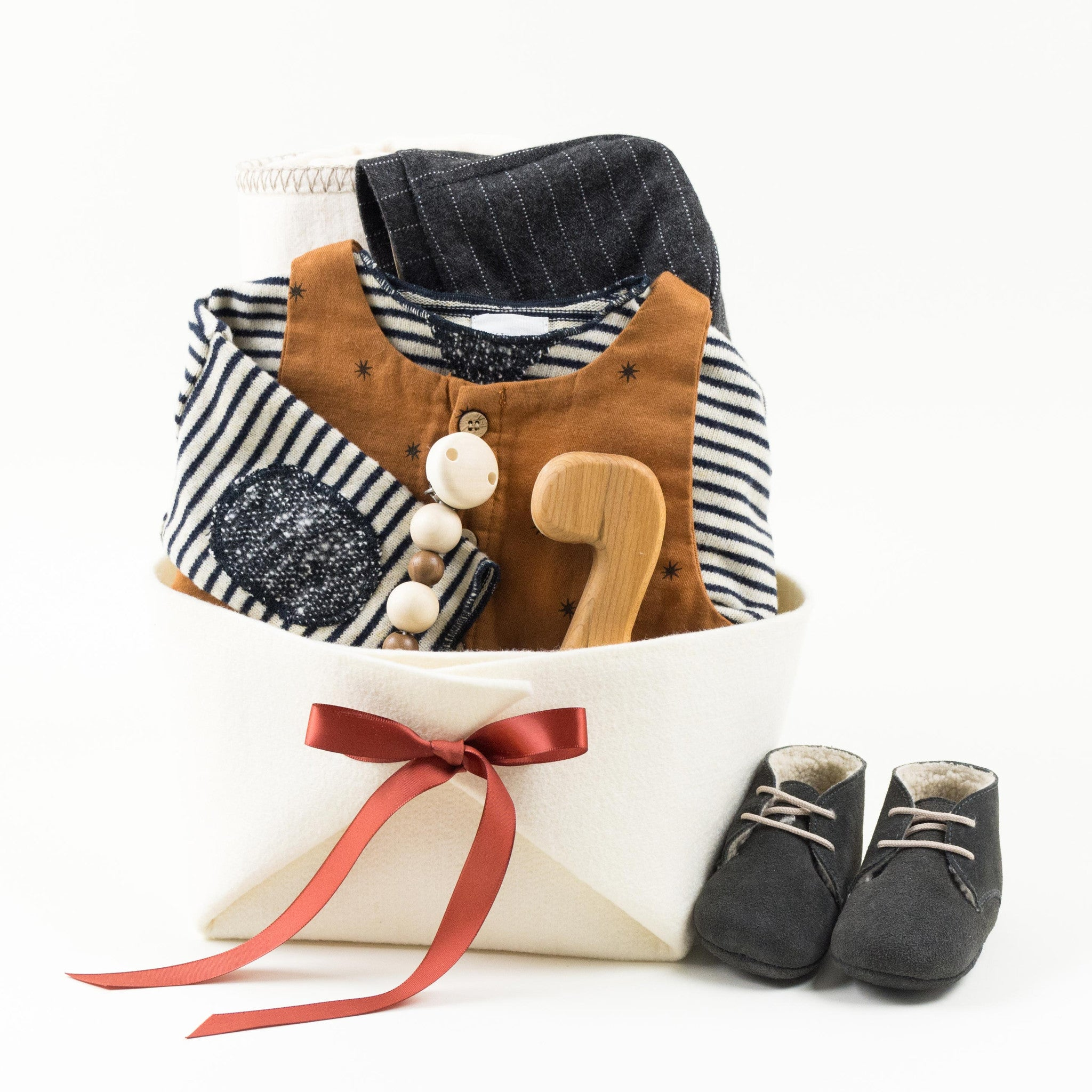 Trendy Baby Gift Basket by Bonjour Baby Baskets
