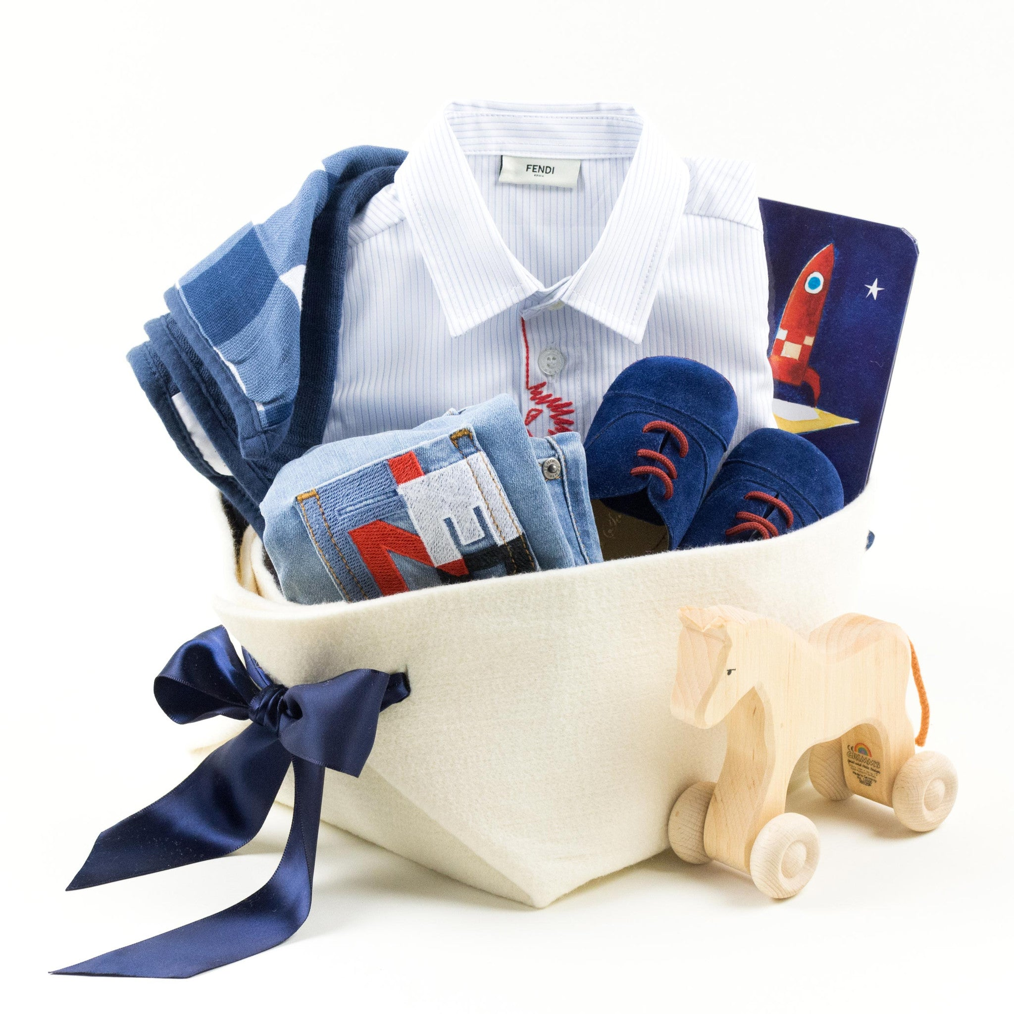 b8f6a415048a Luxury Collection of Baby Gifts by Fendi – Bonjour Baby Baskets ...