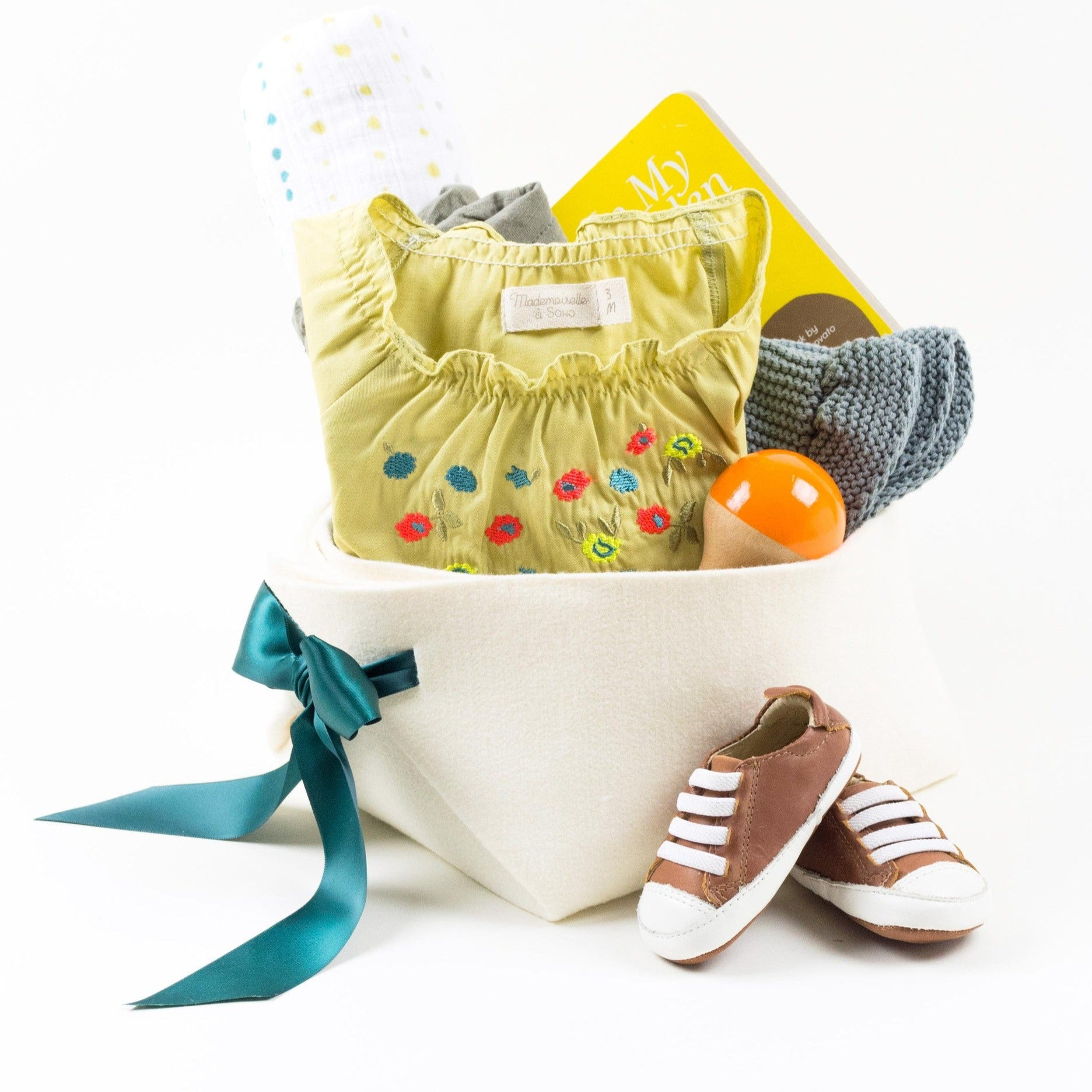 Luxury Baby Girl Gift Basket by Bonjour Baby Baskets