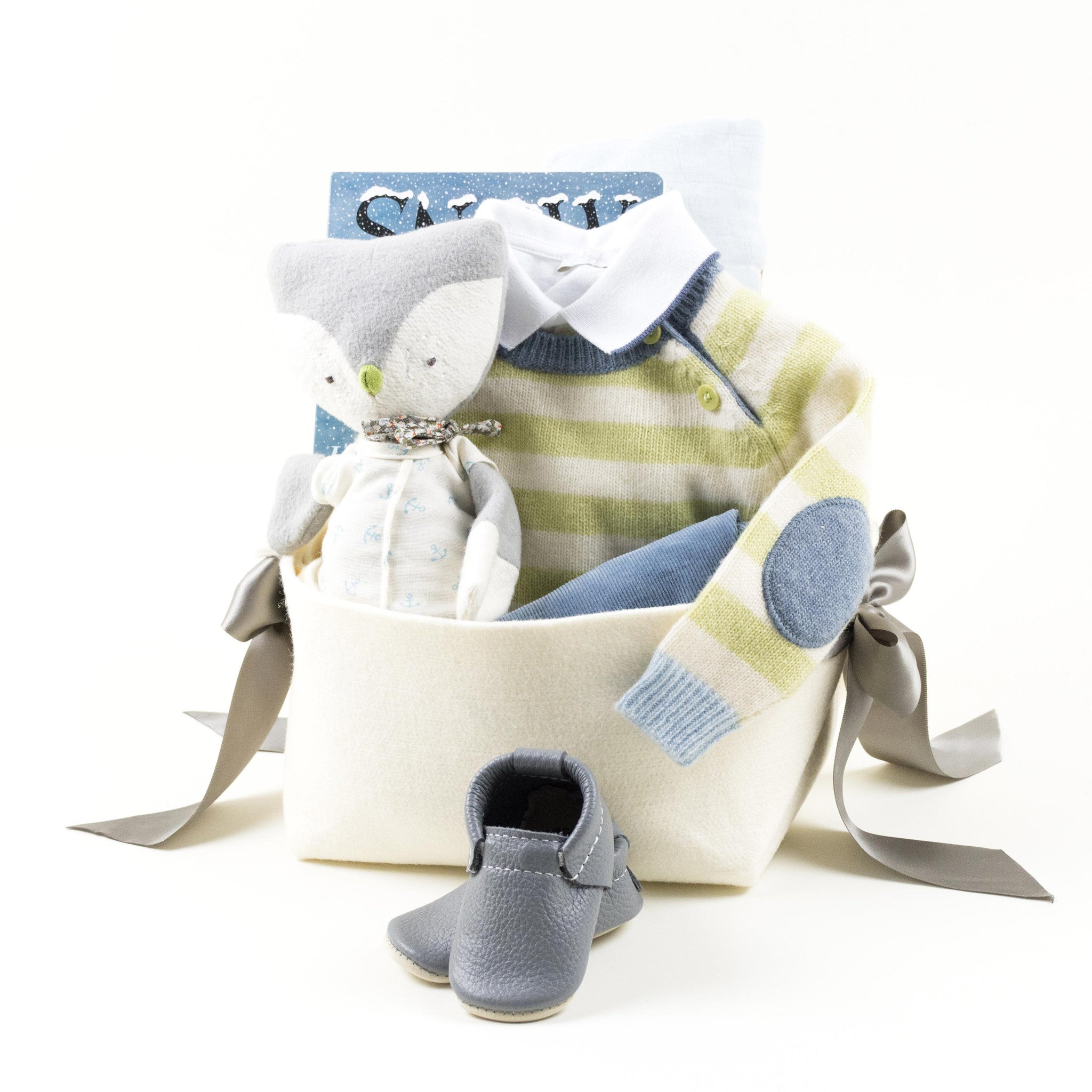 Luxurious Baby Boy Gift Basket by Bonjour Baby Baskets