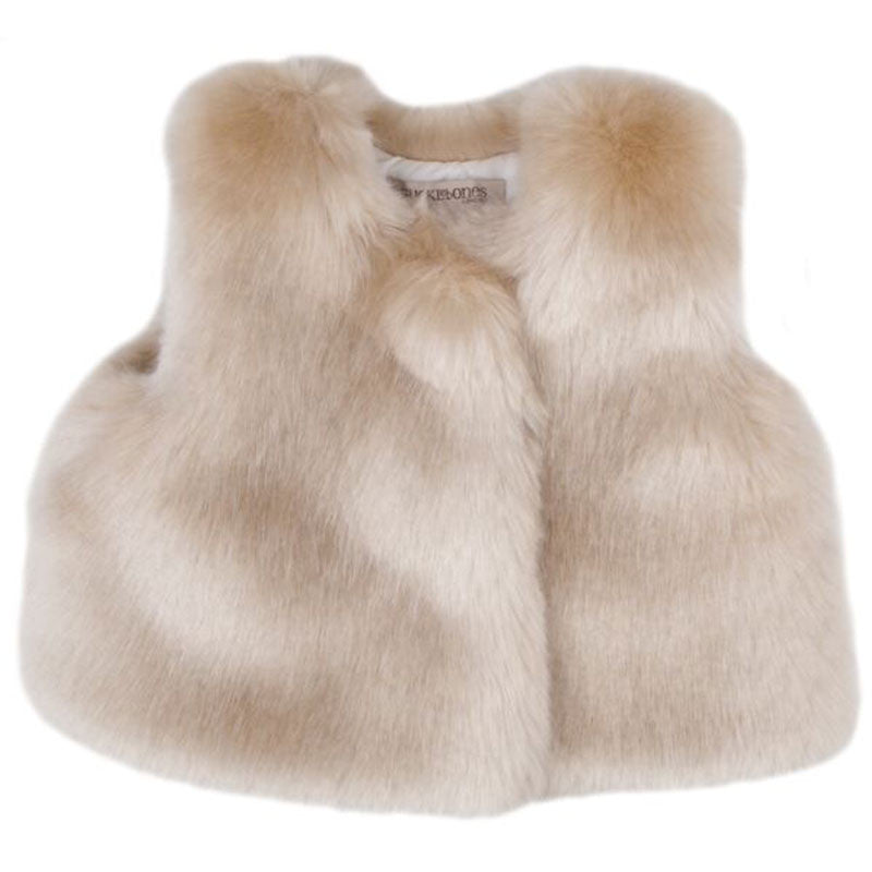 Luxurious faux Fur Baby Best at Bonjour Baby Baskets