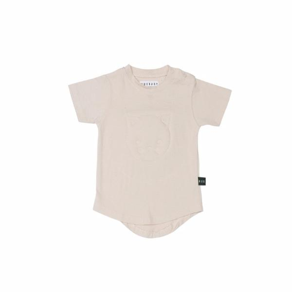 Huxbaby Stitched Cat baby T-shirt at Bonjour Baby Baskets