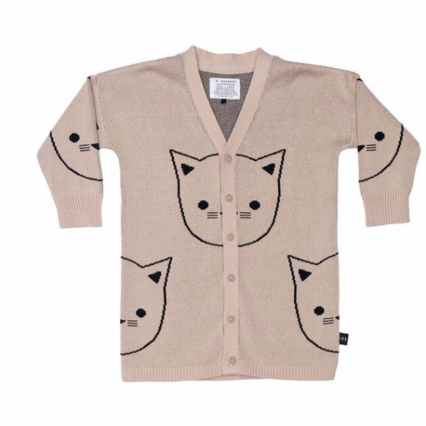 Huxbaby Cat Cardi at Bonjour Baby Baskets