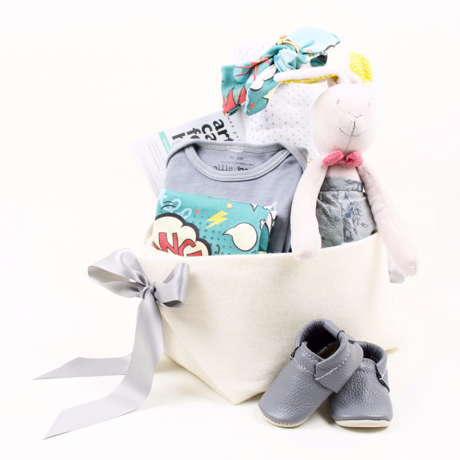 Cool Baby Girl Gift Basket by Bonjour Baby Baskets
