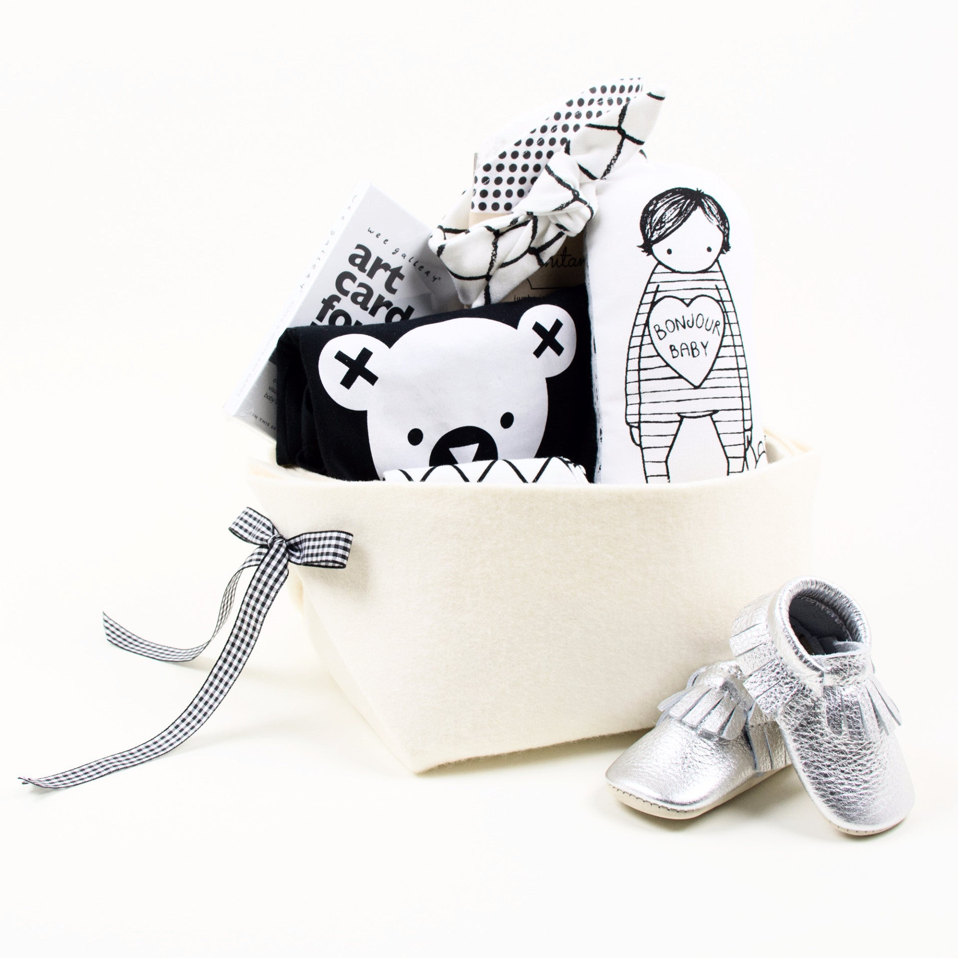 Cool Baby Gift Basket Monochrome at Bonjour Baby Baskets