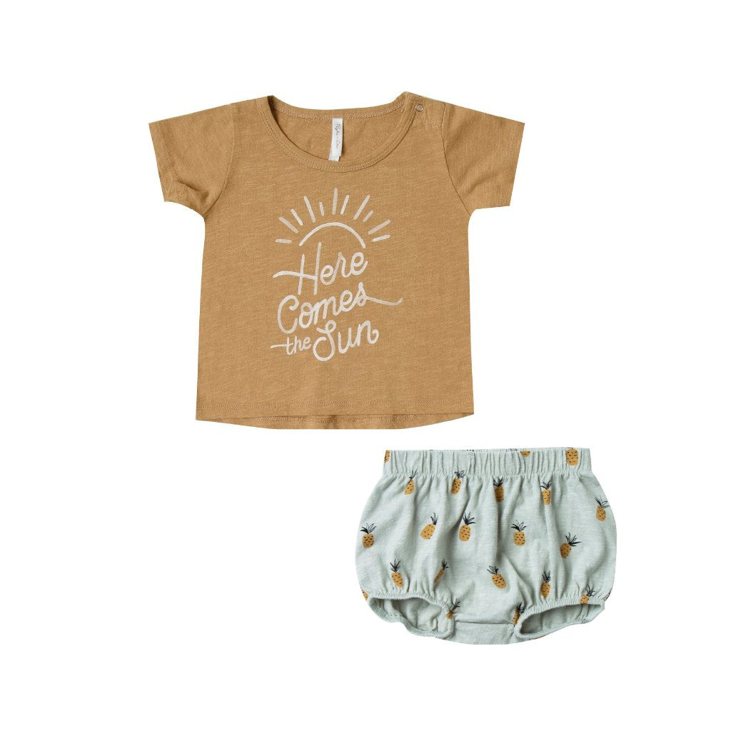 Rylee and Cru baby tee and shorts set
