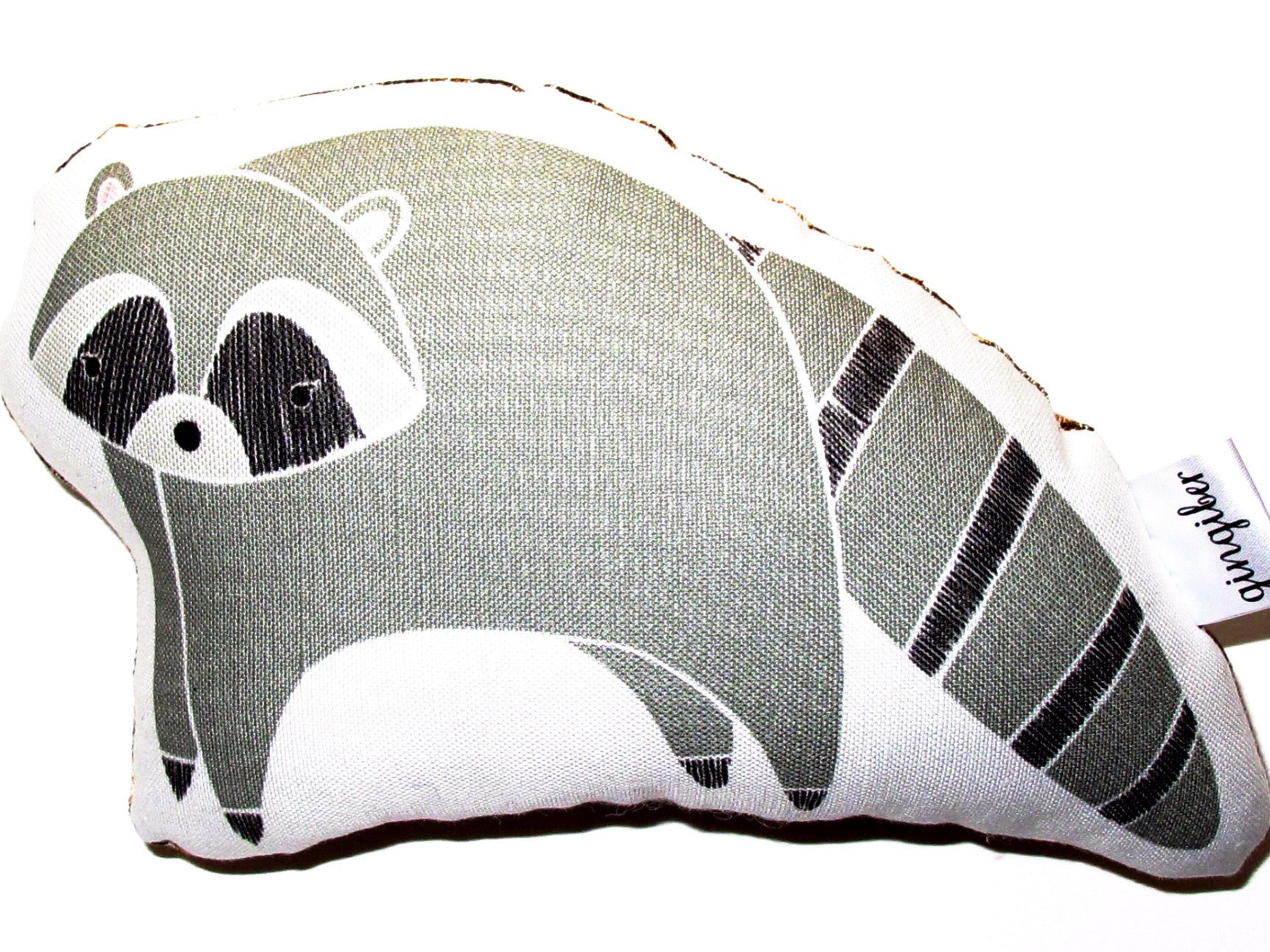 Fun Raccoon Soft Toy for Baby,  Made in USA. Great addition to your BYOB (Build Your Own Basket)