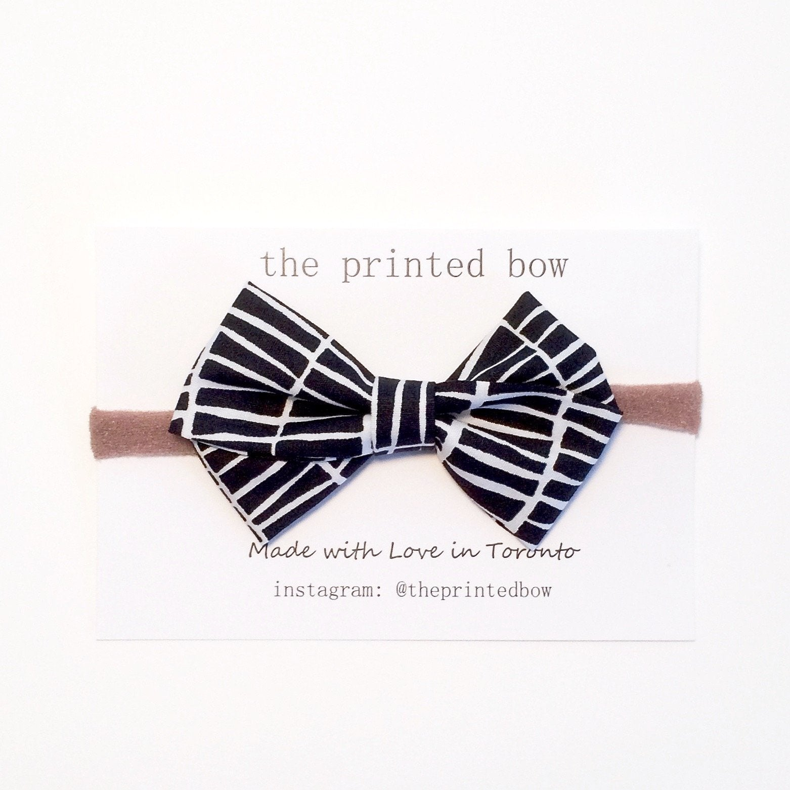 Monochrome Baby Headband at Bonjour Baby Baskets Luxury Baby Gifts