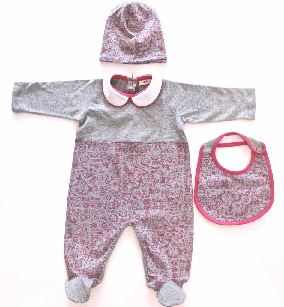 c2a4252532da Fendi Pink and Grey Monster Roma Baby Gift Set in Canada – Bonjour ...