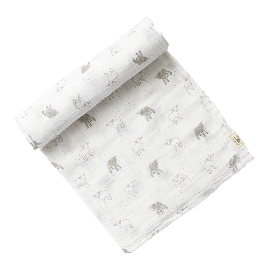 Lambs soft baby blanket at Bonjour Baby Baskets