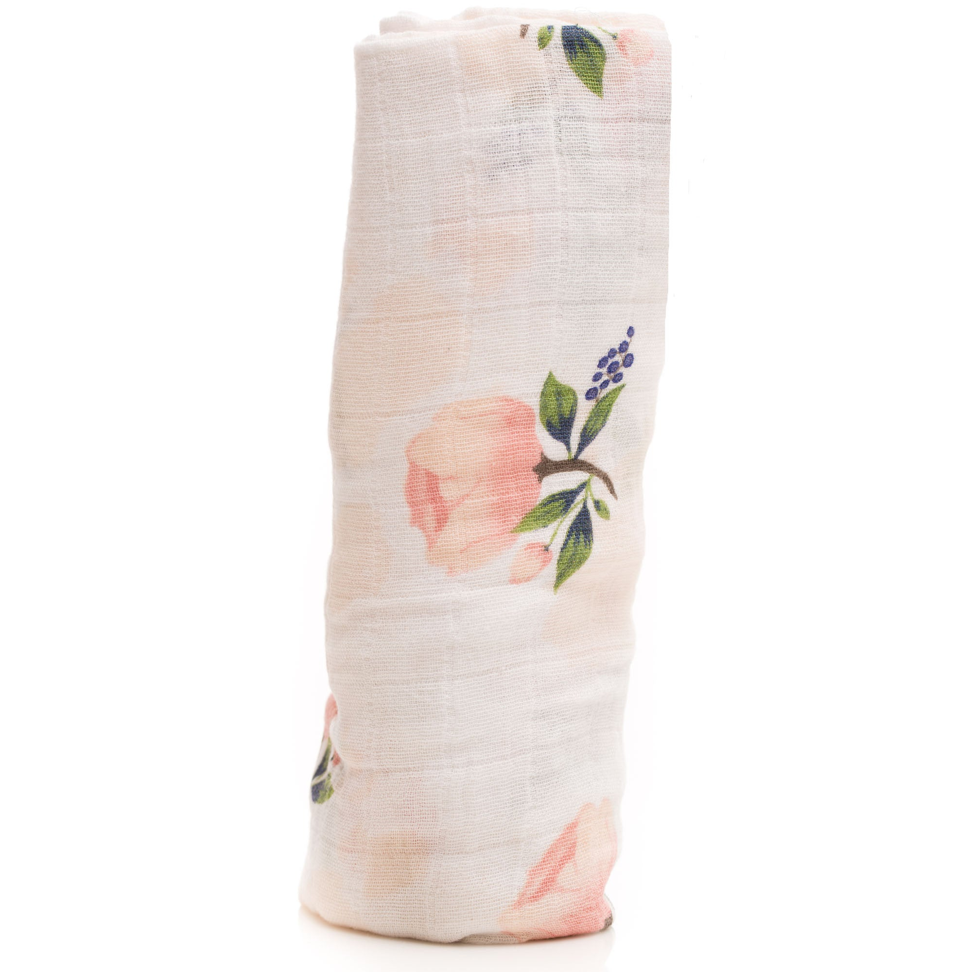 "Swaddle Muslin Blanket ""Watercolour Rose"""