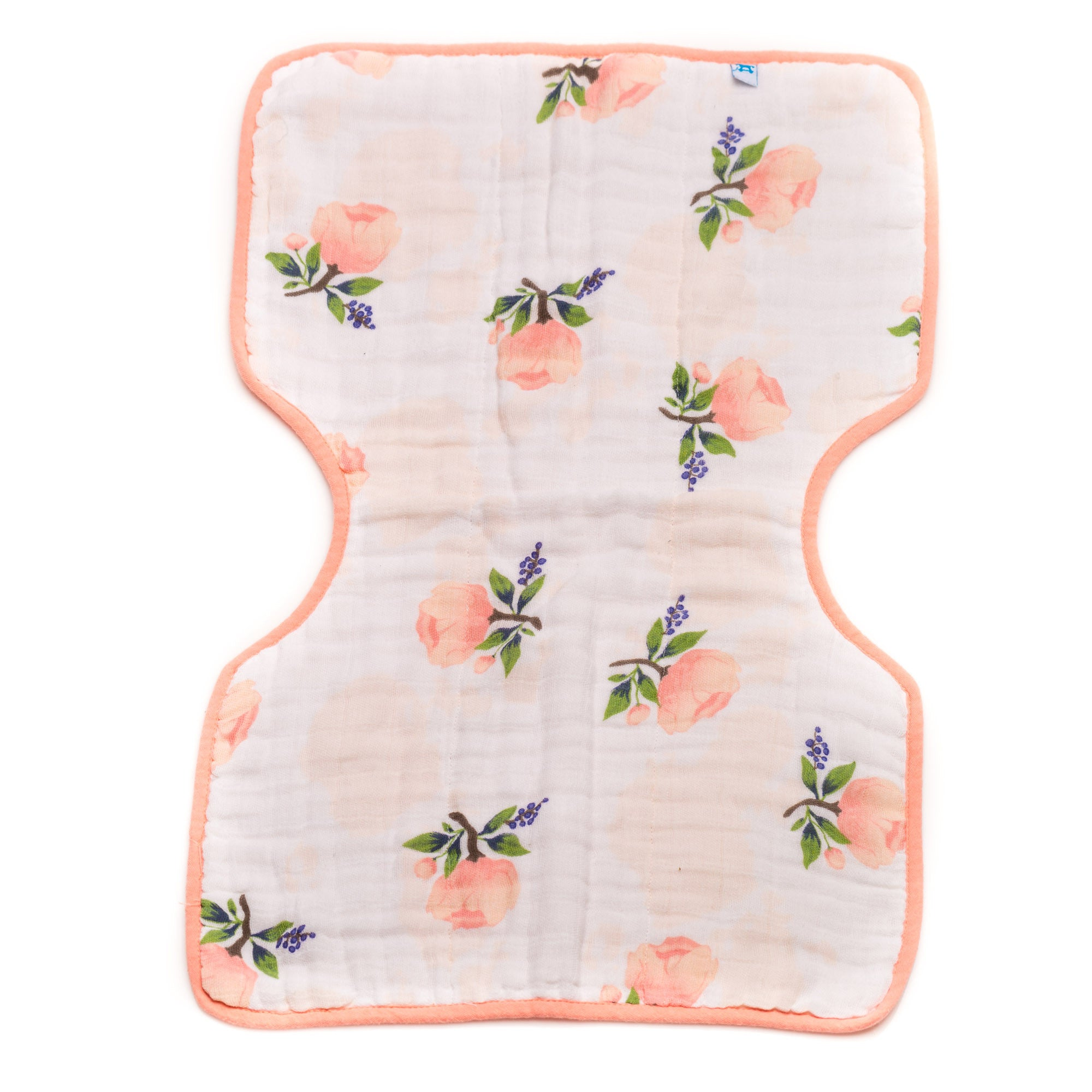 "Soft Burp Cloth  ""Watercolour Rose"""