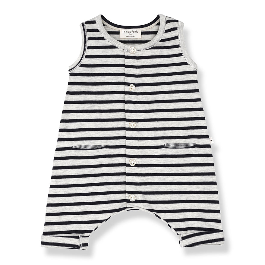 Comfy Sleeveless Summer Baby Romper at Bonjour Baby Baskets