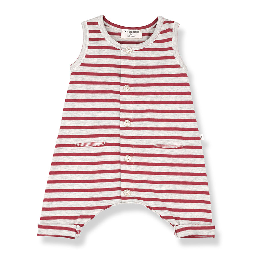 One More in the Family sleeveless romper at Bonjour Baby Baskets - Best Baby Gifts
