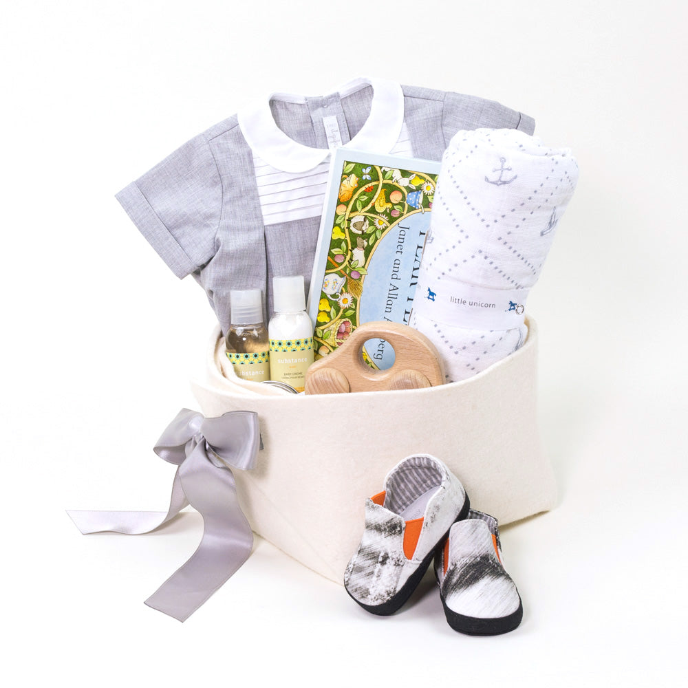 Luxury Baby Gift at Bonjour Baby Baskets, perfect as a Corporate Baby Gift