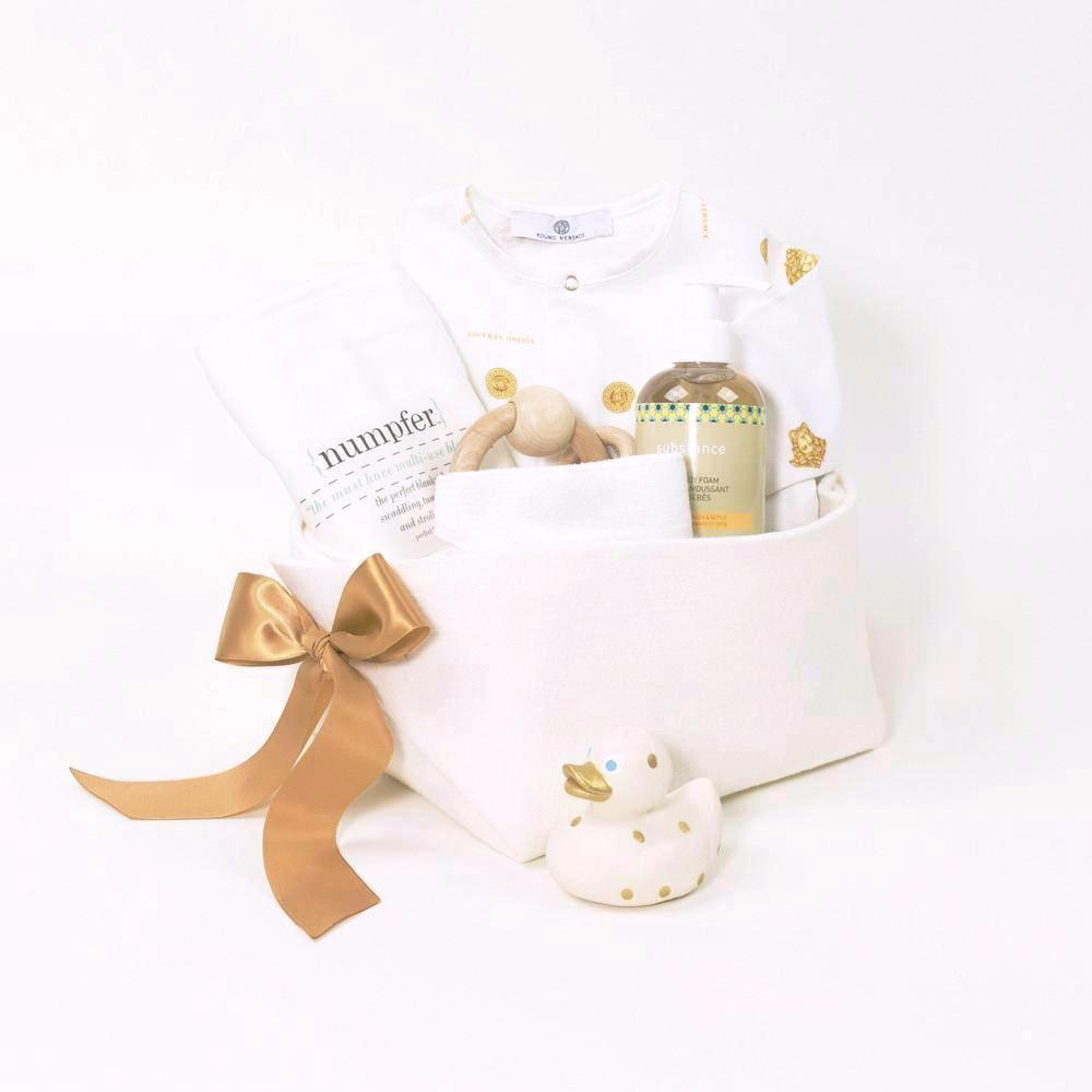 Gianni Versace Luxury Baby Gift Basket by Bonjour Baby Baskets