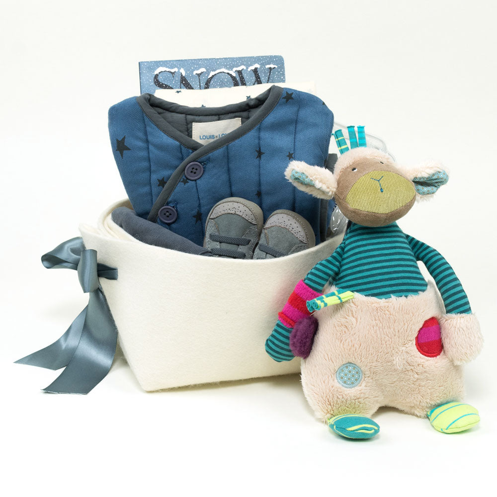 Corporate Baby Gift Basket featuring Louis Louise from France