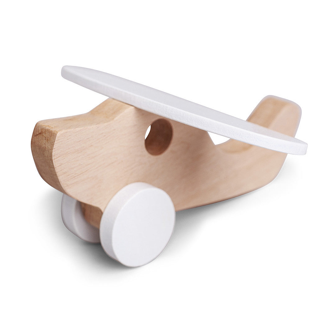 Minimalist Baby wooden plane toy at Bonjour Baby Baskets, Best baby gifts