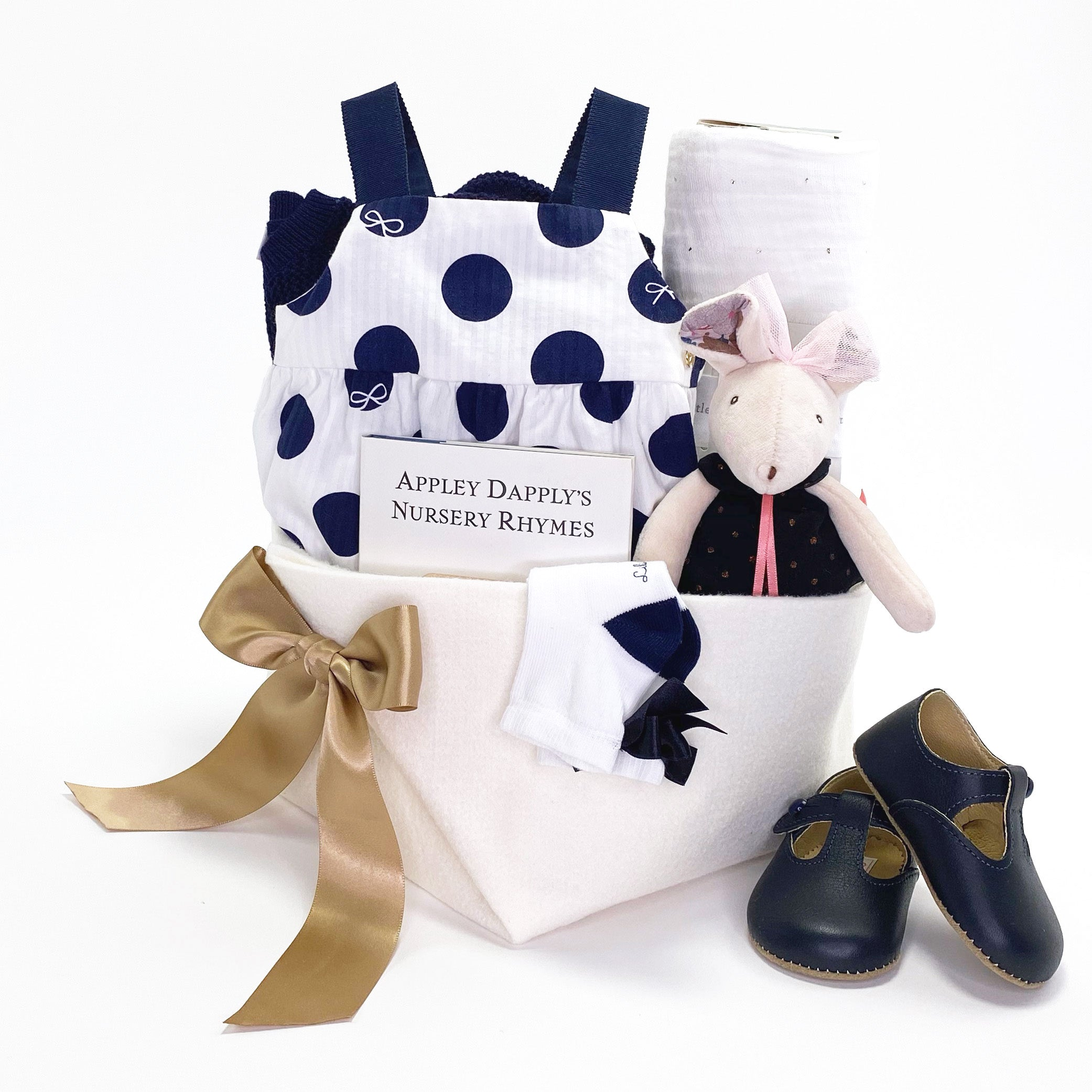 Luxury Baby Girl Gift Basket at Bonjour Baby Baskets featuring Lili Gaufrette