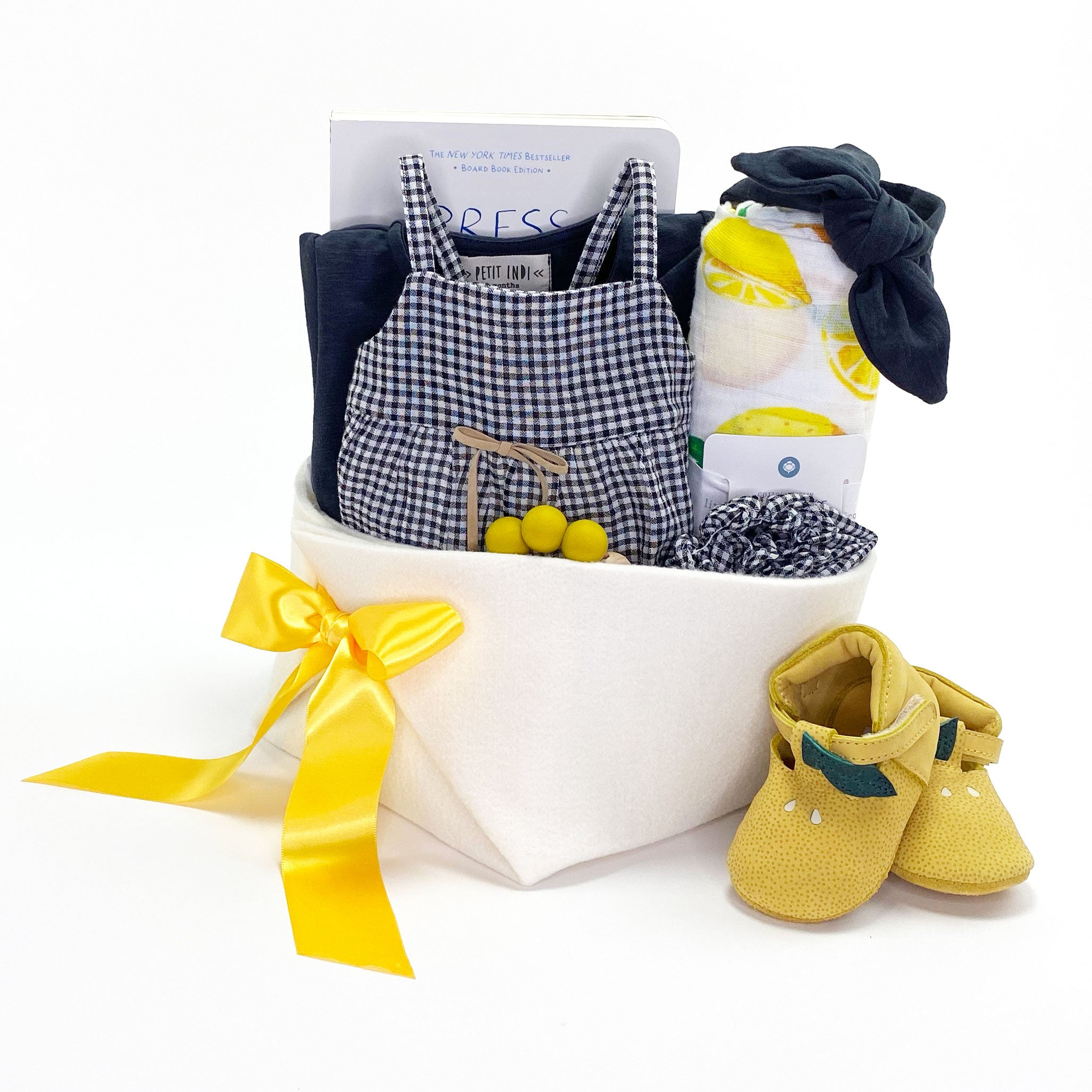 Luxury Baby Girl Gift Basket at Bonjour Baby Baskets, best Corporate Baby Gifts