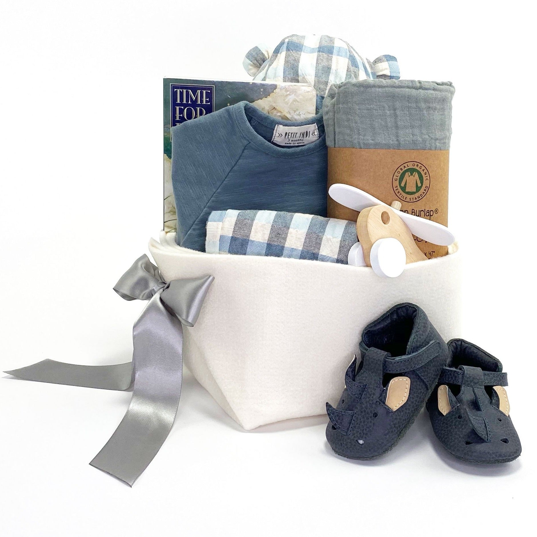 Baby Boy Gift Basket perfect for your Corporate Baby Gifts
