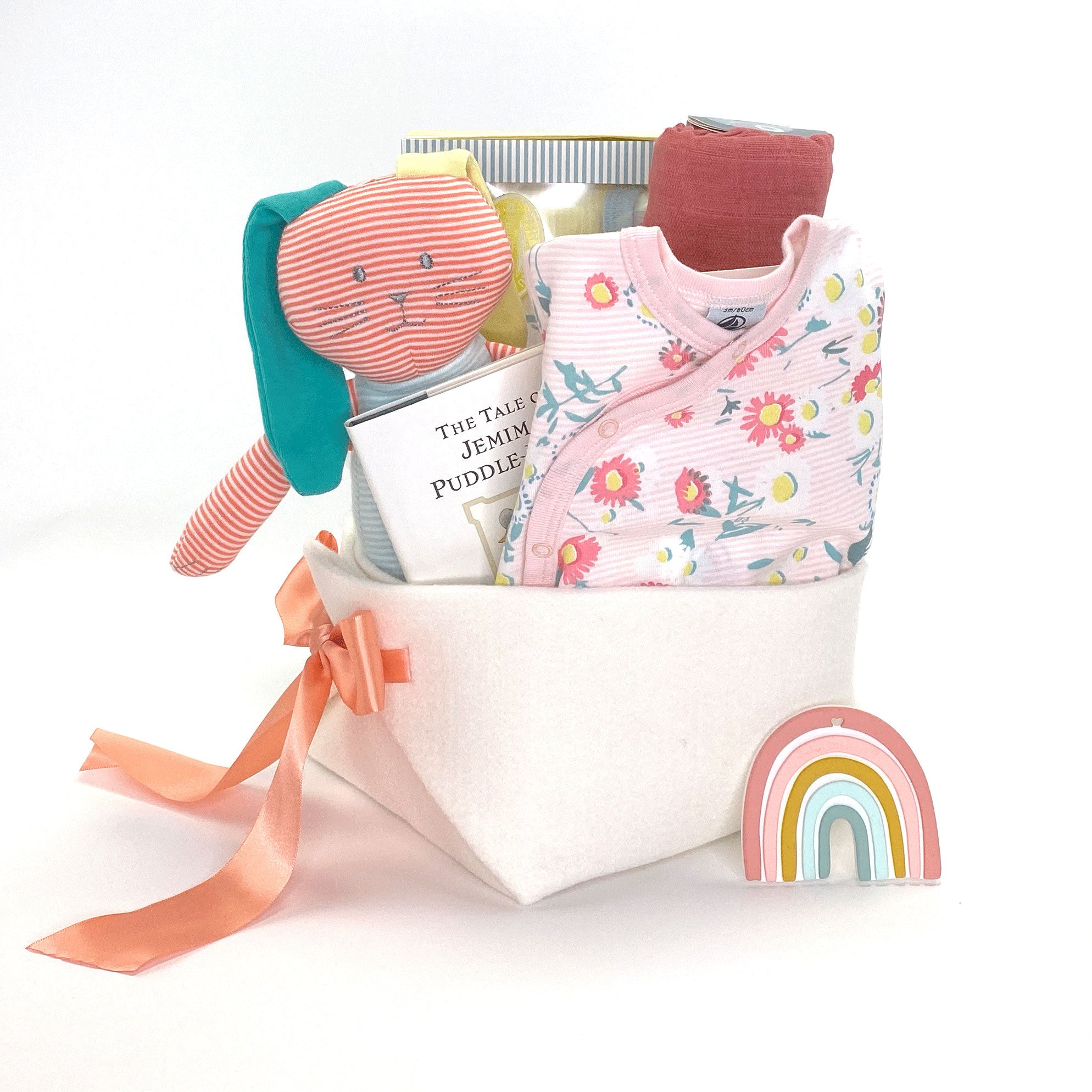 Luxury Baby Girl Gift Basket at Bonjour Baby Baskets featuring Petit Bateau