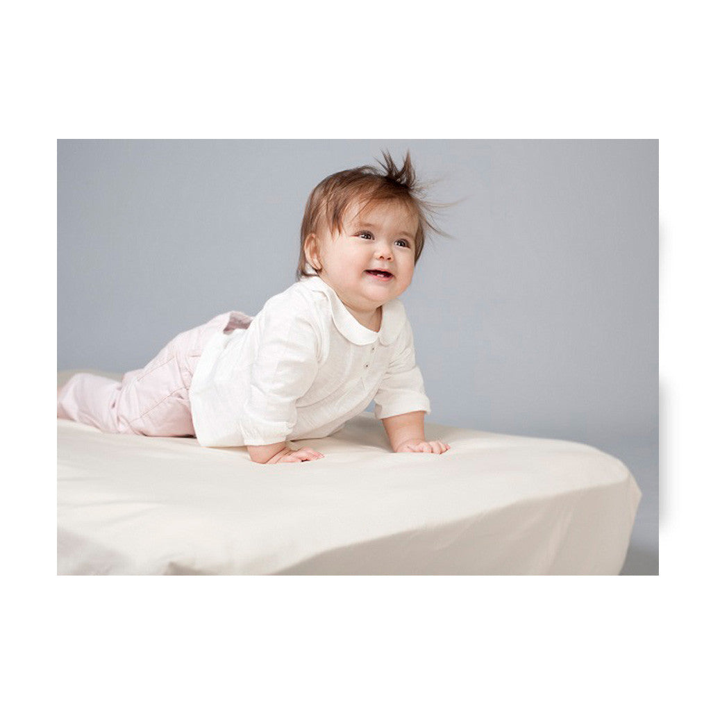 Fitted Organic Sateen Crib Sheet