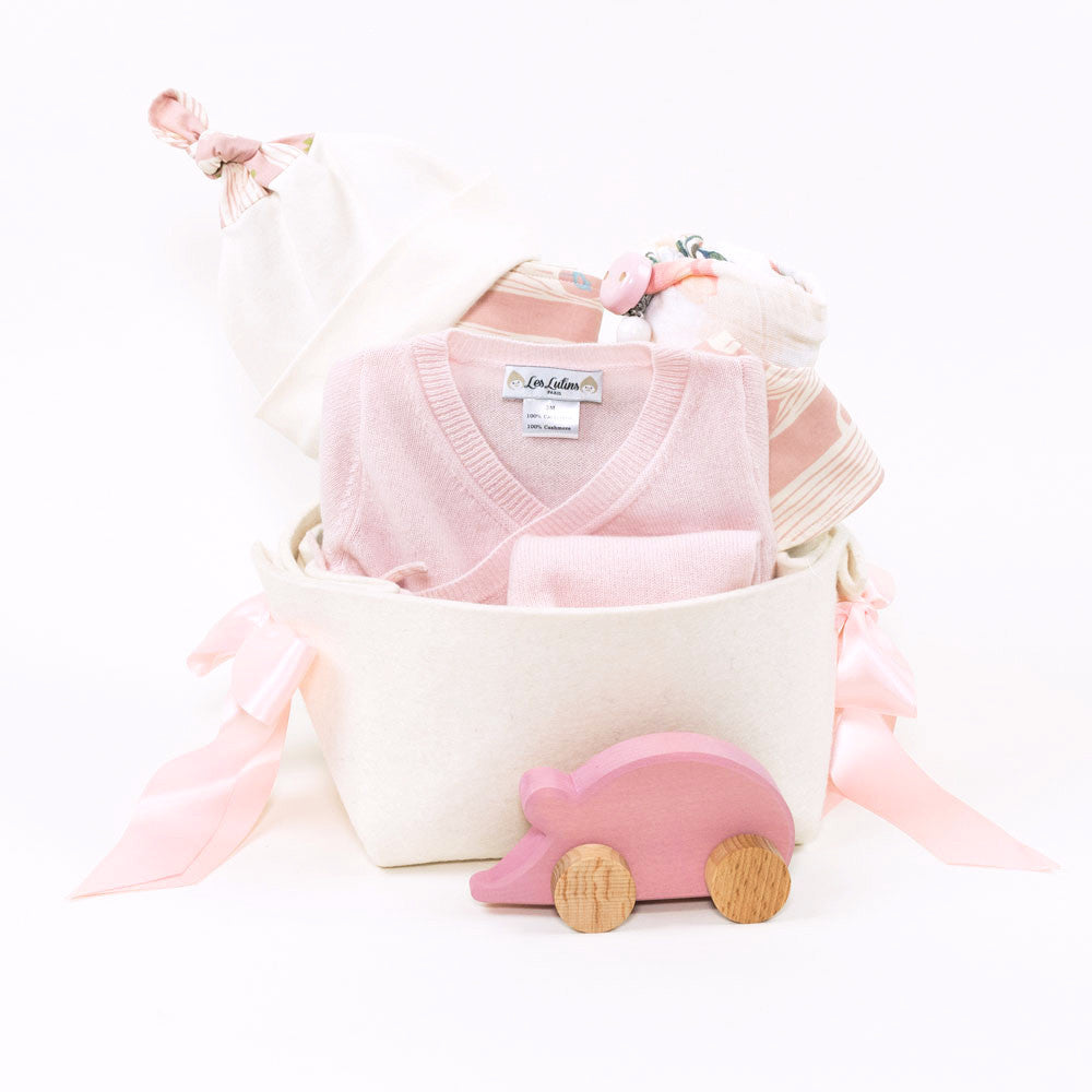 Luxury Baby Gift Basket featuring Cashmere baby gifts