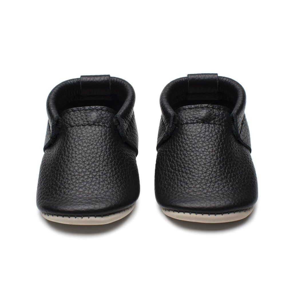 Minimocs Shoes in adorable black colour at Bonjour Baby Baskets