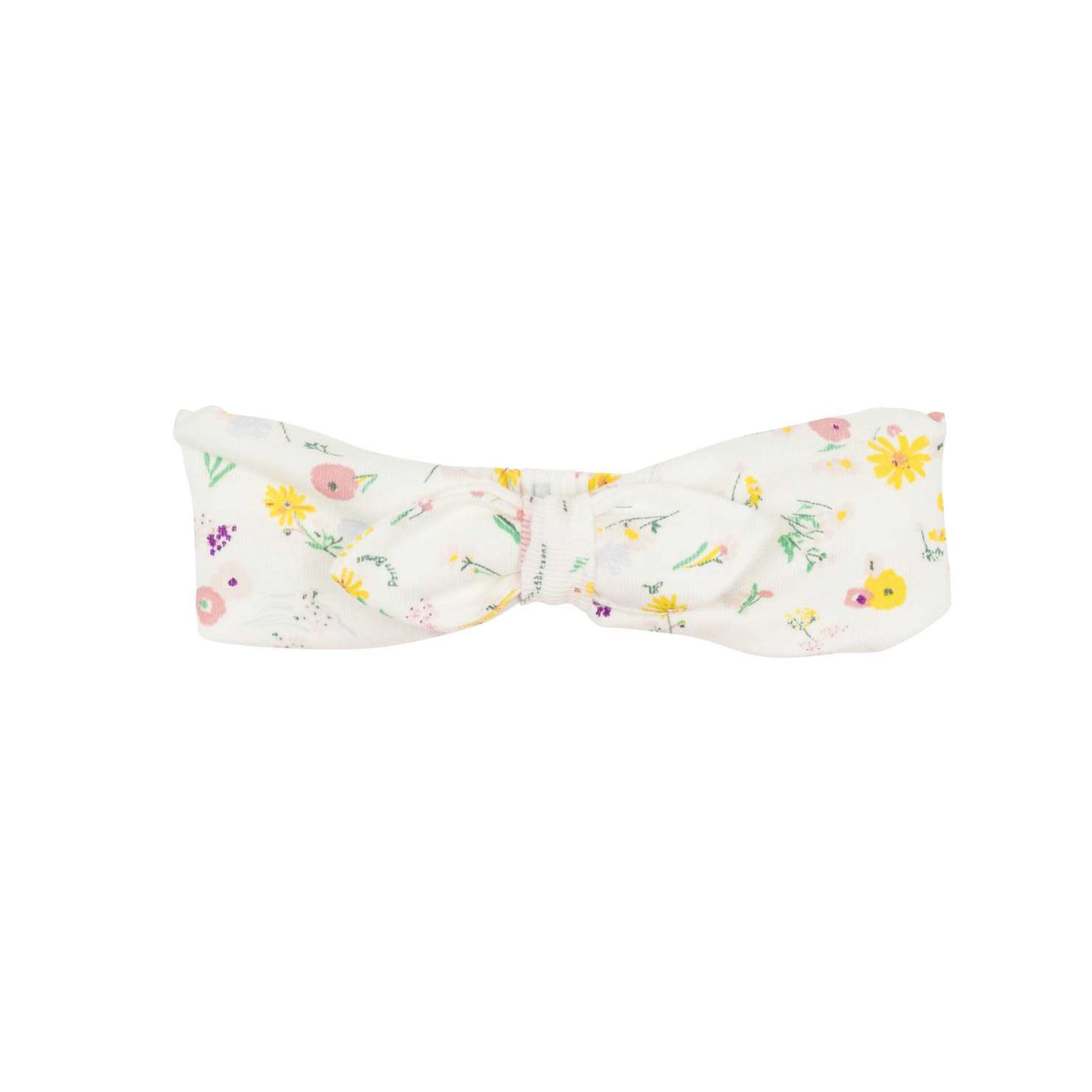 Petit Bateau Baby Headband with flowers at Bonjour Baby Baskets