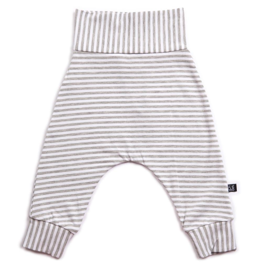 Vonbon Baby Harem leggings in grey stripes