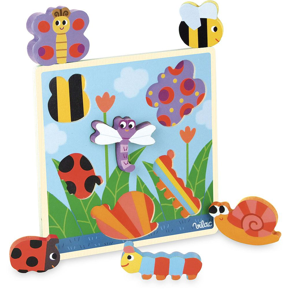 Adorable Puzzle with garden bugs by Vilac