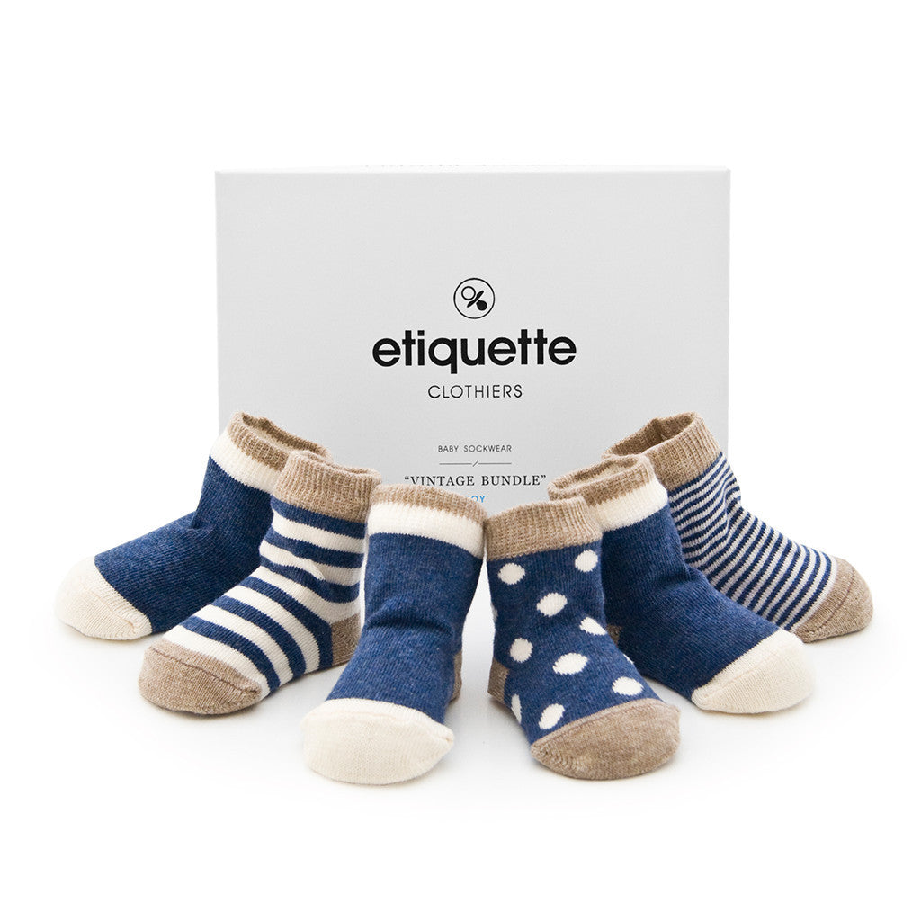 Luxury Baby Socks by Etiquette Clothiers