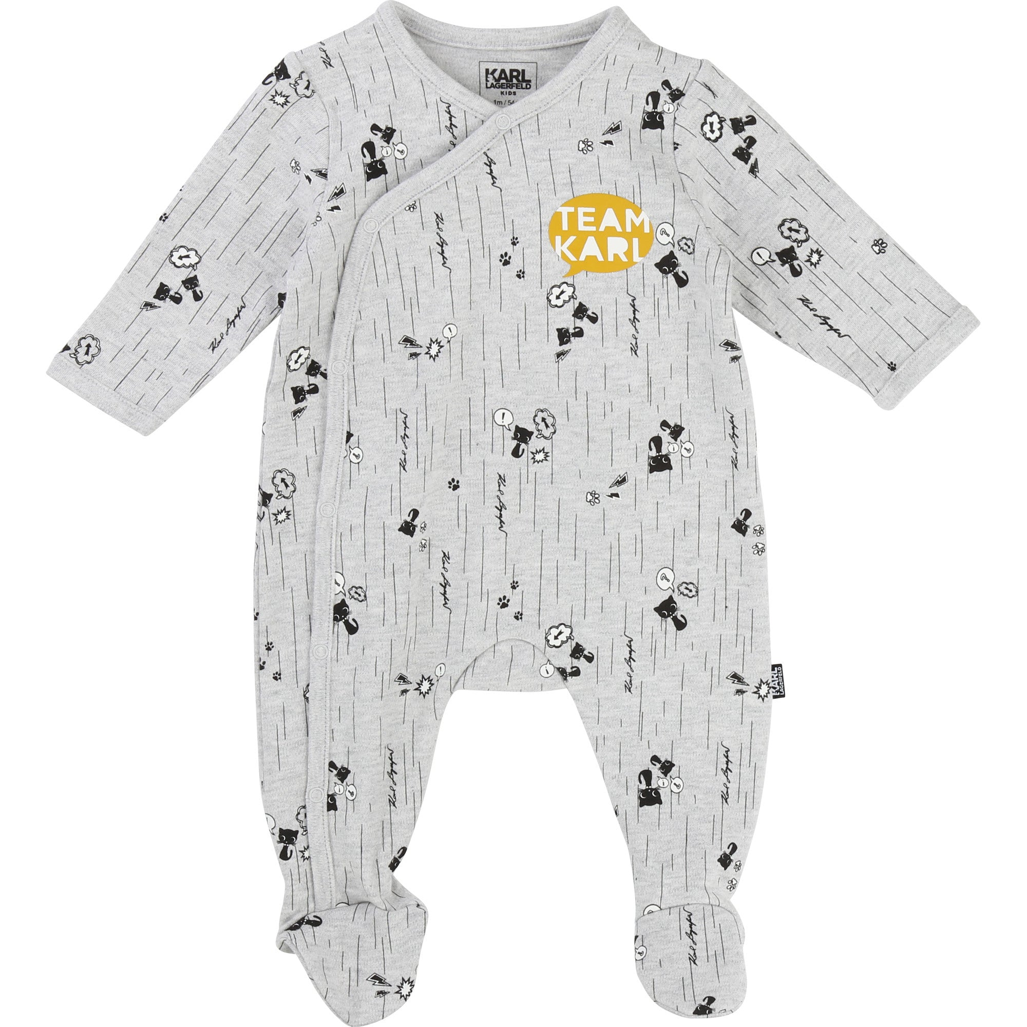 Baby Sleeper by KARL LAGERFELD Kids - Gris