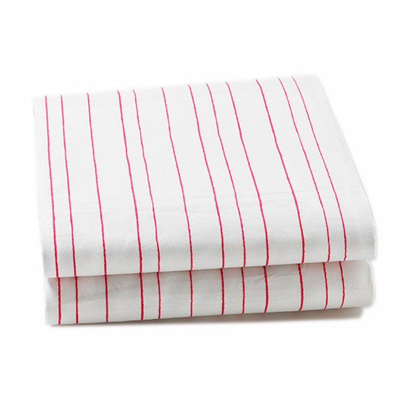 Baby Crib Fitted Sheet - Painted Stripe Pink