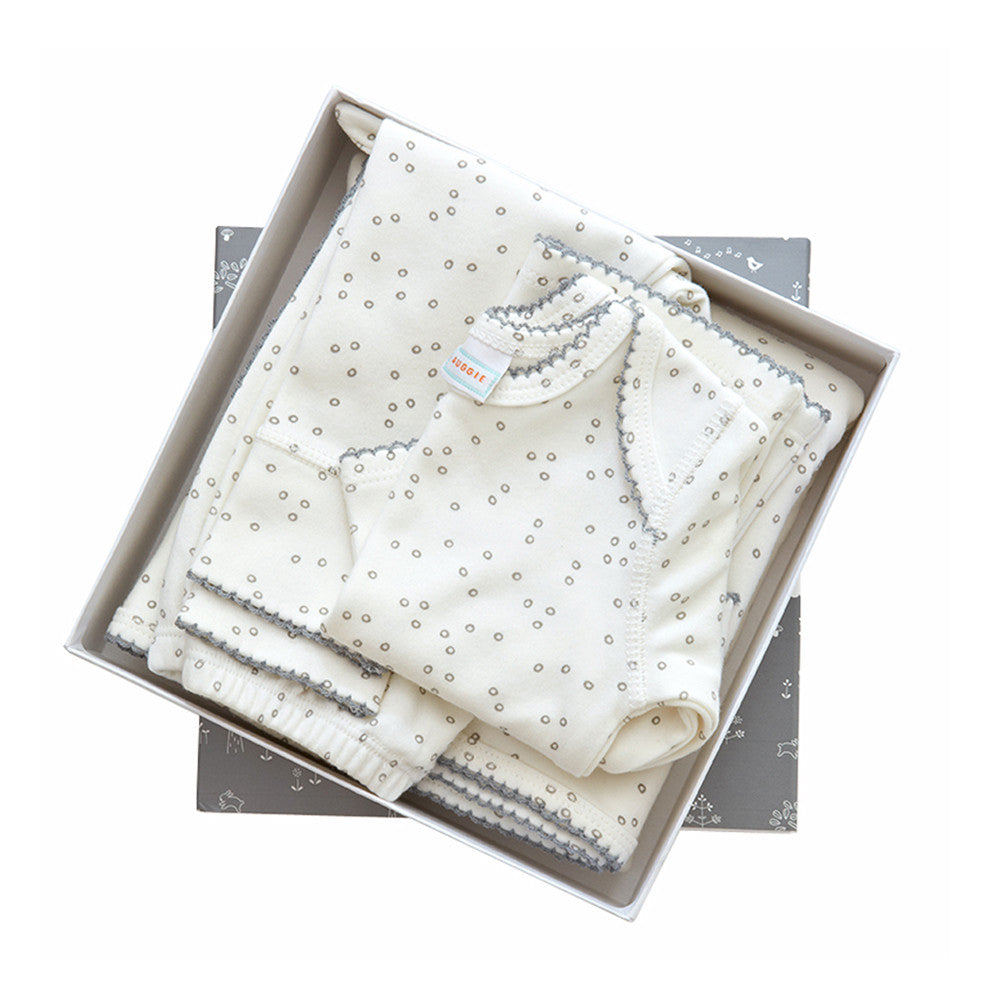 Baby 4 Piece Layette Set  Pebble Grey