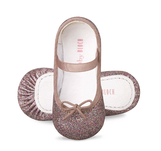 Bloch Baby Ballet Flats in Multi Colour Sparkle