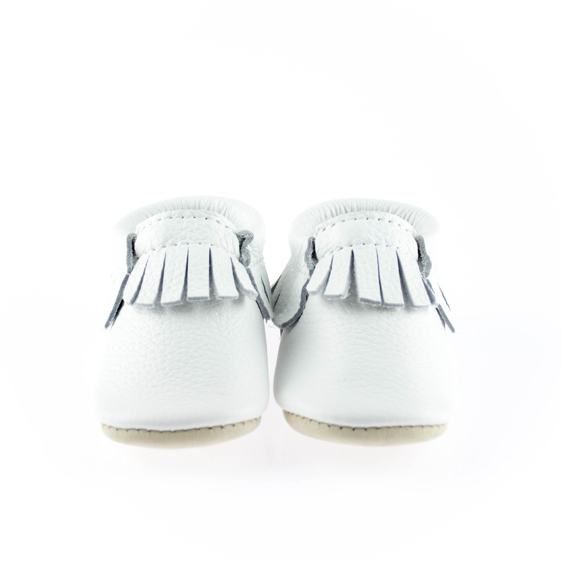White Baby Leather Mocs