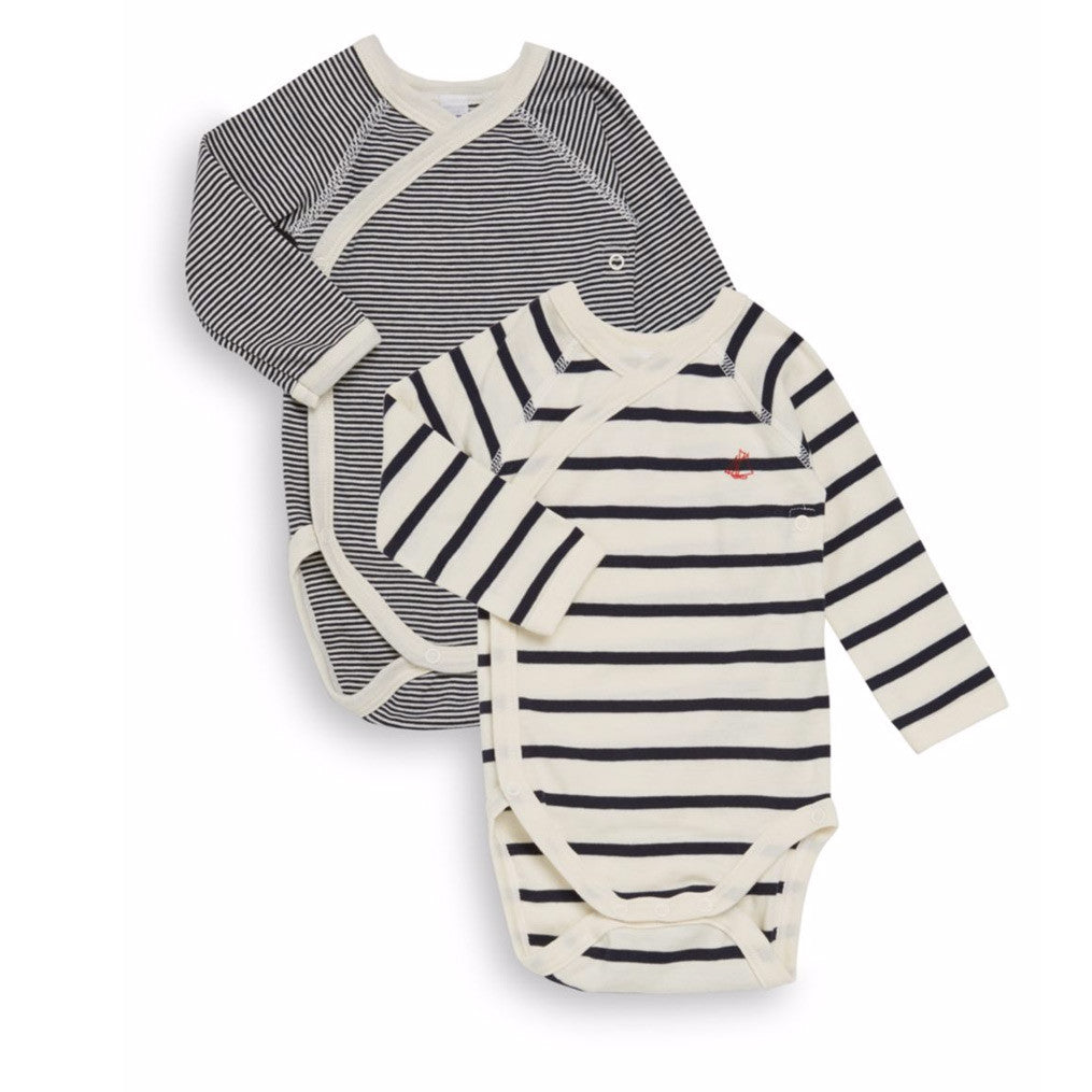 Petit Bateau baby onesies at Bonjour Baby Baskets