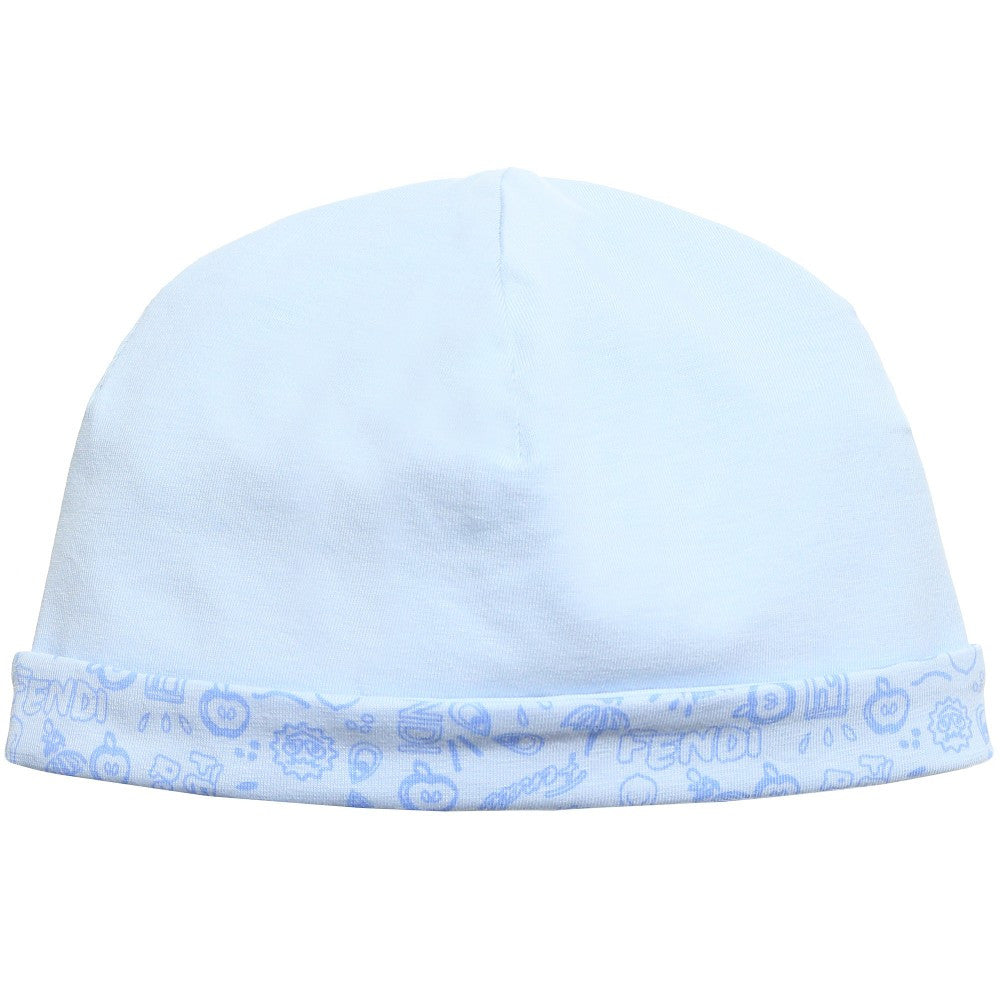 7ed30e08fe92 Soft Blue Baby Boy Hat by Fendi – Bonjour Baby Baskets - Luxury Baby ...