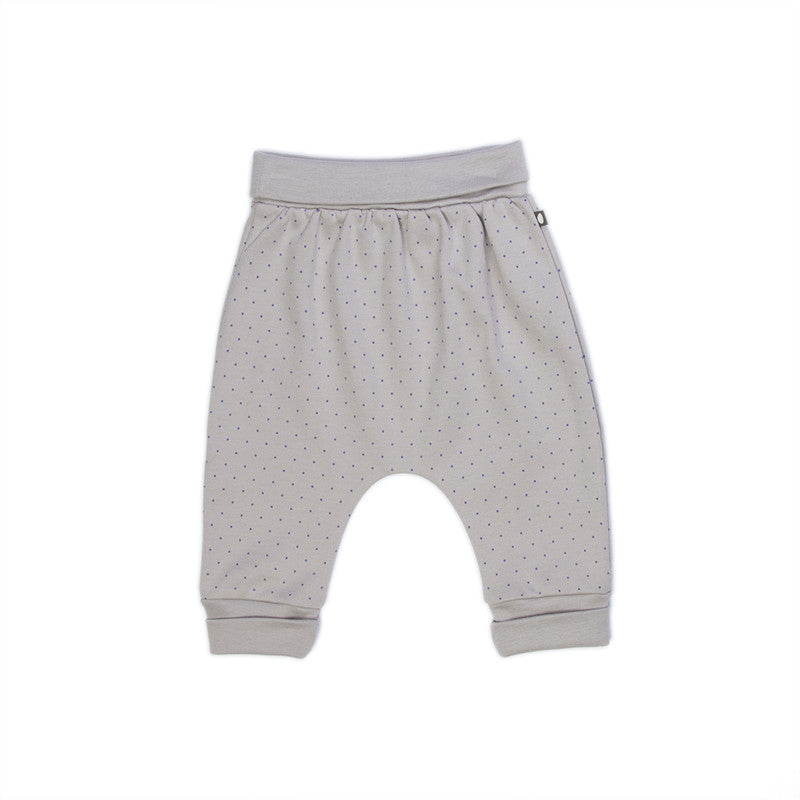 Oeuf Nyc Light Grey Indigo Dots Hammer Pants By Bonjour Baby