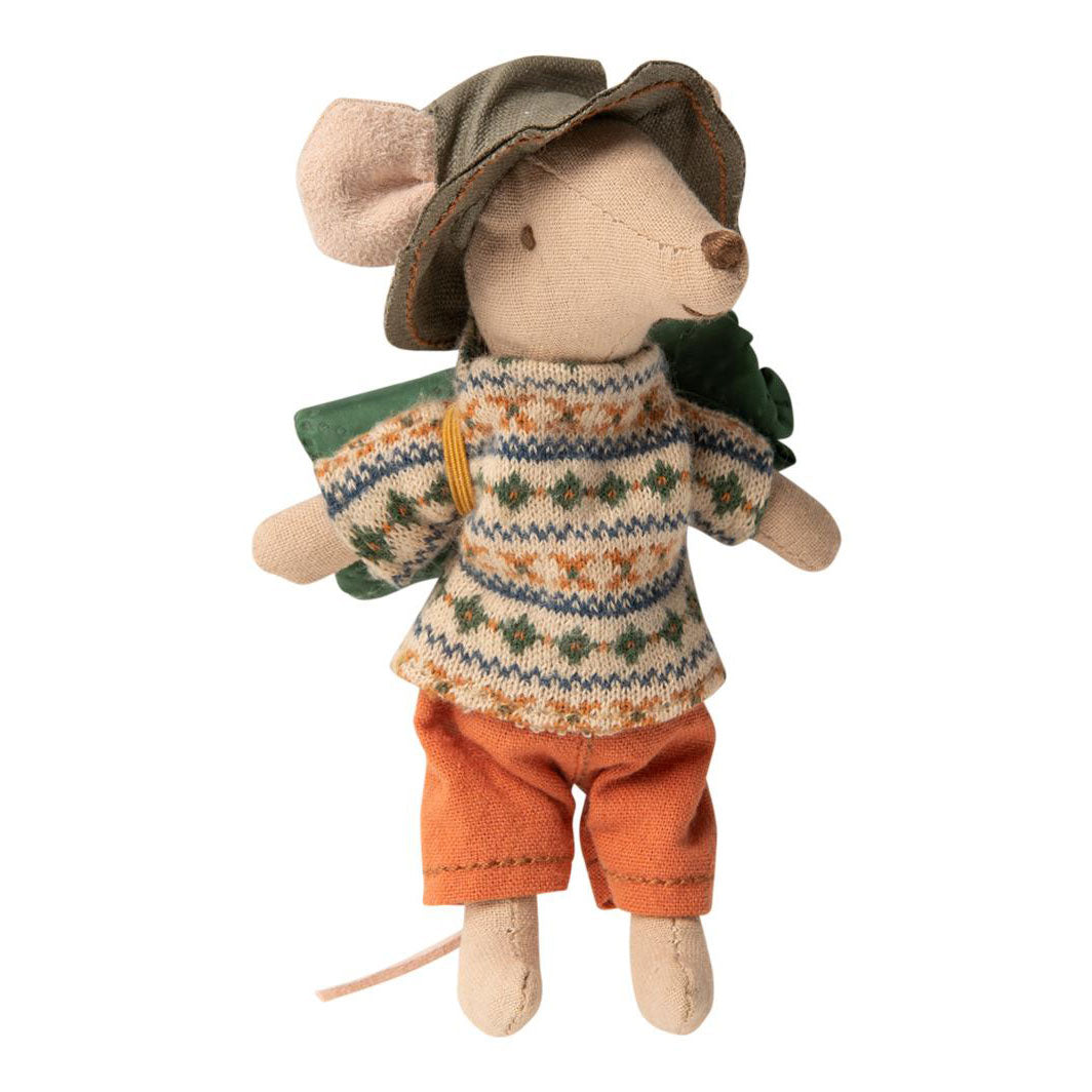 Maileg Hiker Mouse Big Brother at Bonjour Baby Baskets - Luxury Baby Gifts
