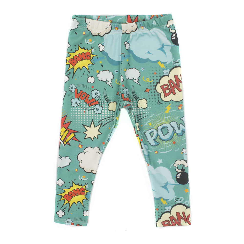 Ollie Jones organic leggings with cartoon print
